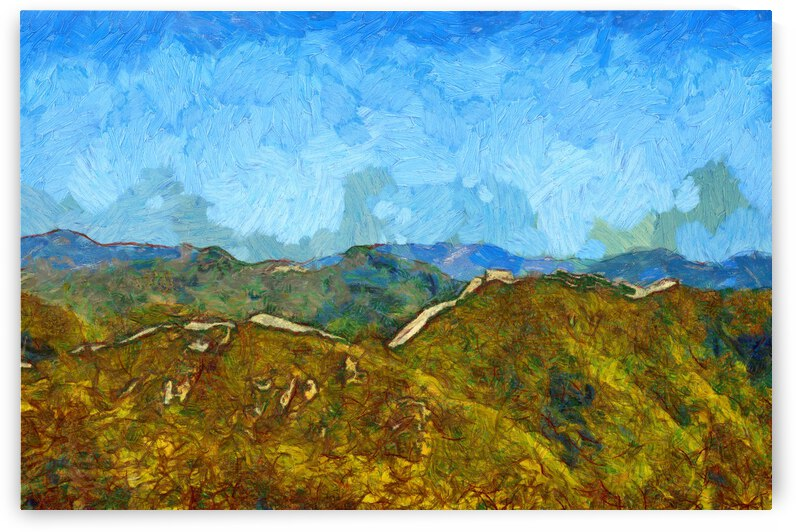 CHINA GREAT WALL OIL PAINTING IN VINCENT VAN GOGH STYLE. 59. by ArtEastWest