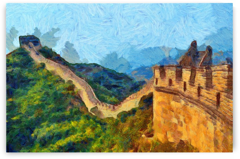 CHINA GREAT WALL OIL PAINTING IN VINCENT VAN GOGH STYLE. 63. by ArtEastWest