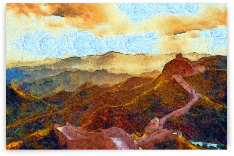 CHINA GREAT WALL OIL PAINTING IN VINCENT VAN GOGH STYLE. 61. by ArtEastWest
