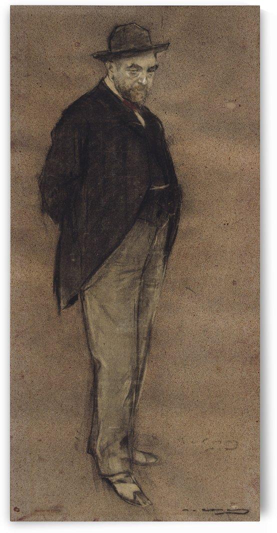 Portrait of Carles Gumersind Vidiella by Ramon Casas i Carbo