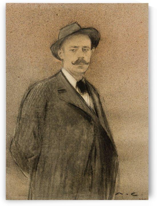Portrait of Ignacio Zuloaga by Ramon Casas i Carbo