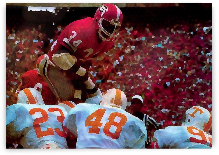 1981 Herschel Walker Georgia Football Art by Row One Brand