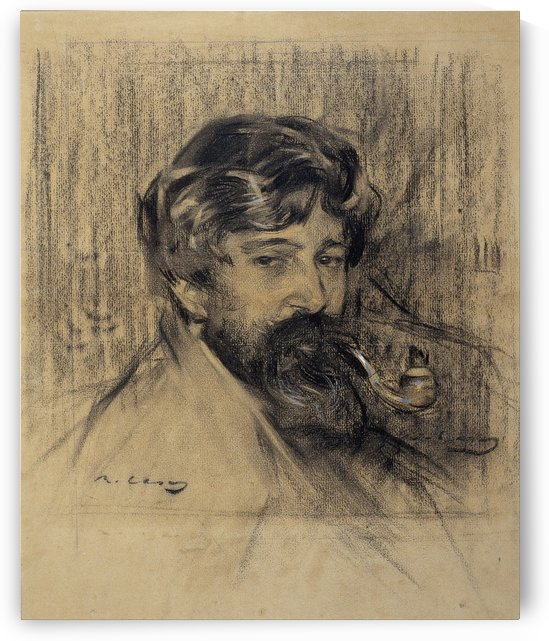 Portrait of Santiago Rusinol by Ramon Casas i Carbo