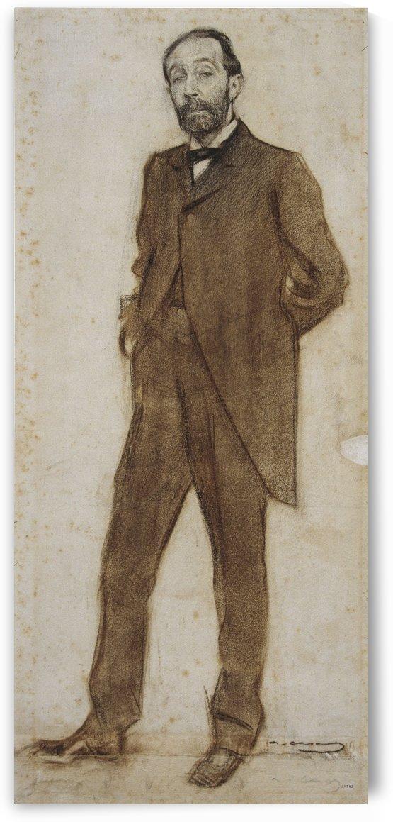 Portrait of Bartomeu Robert by Ramon Casas i Carbo