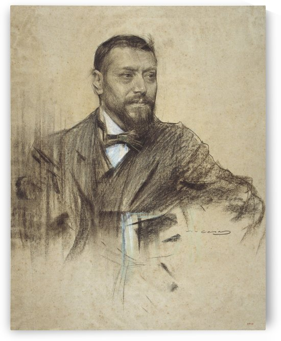 Portrait of Jose Francos Rodriguez by Ramon Casas i Carbo