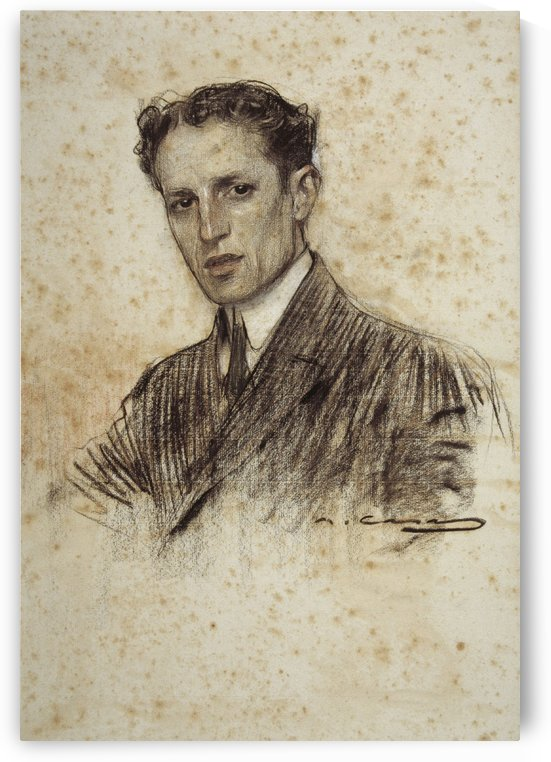 Portrait of Felip Rodes by Ramon Casas i Carbo