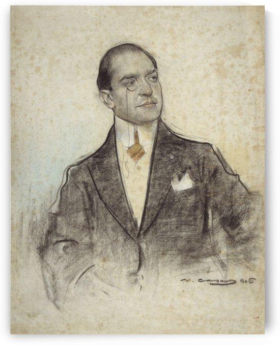 Portrait of Andreu Perello by Ramon Casas i Carbo