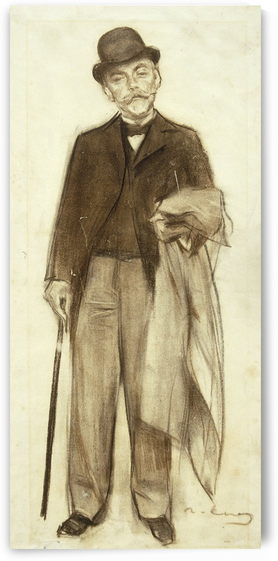 Portrait of Carles Pirozzini by Ramon Casas i Carbo