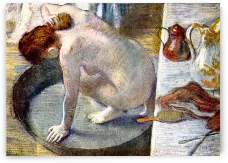 Woman washing in the tub by Degas by Degas
