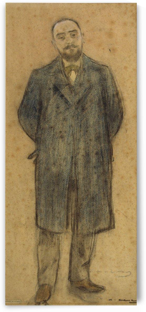 Portrait of Bonaventura Bassegoda by Ramon Casas i Carbo