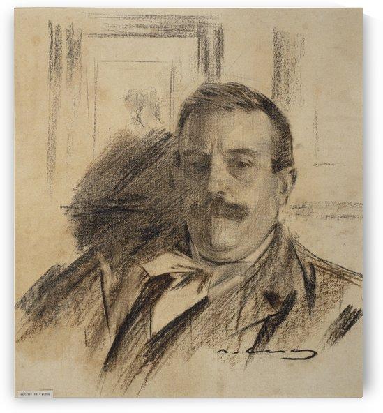 Portrait of Raimon Casellas by Ramon Casas i Carbo