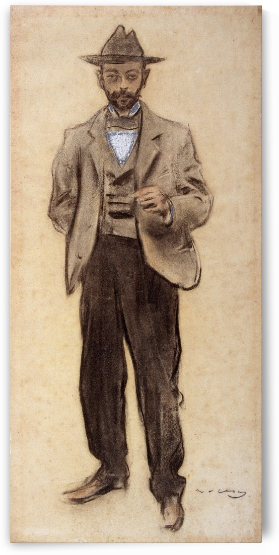 Portrait of Manolo Hugue by Ramon Casas i Carbo