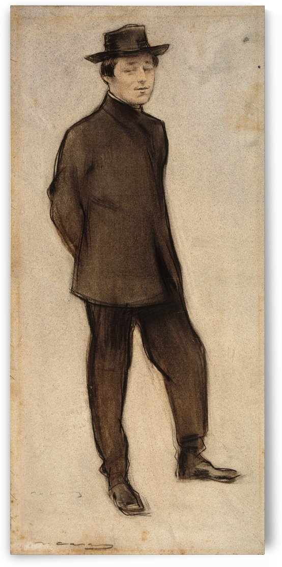 Portrait of Isidre Nonell by Ramon Casas i Carbo