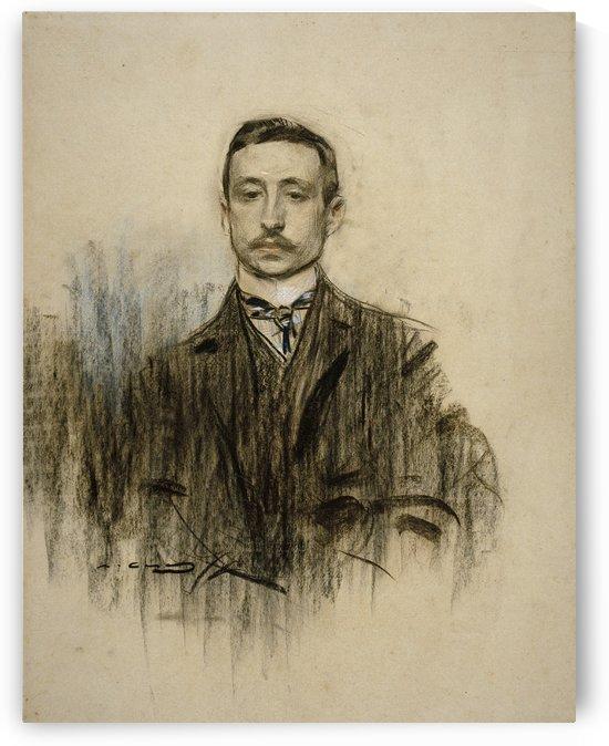 Portrait of Eduardo Chicharro by Ramon Casas i Carbo