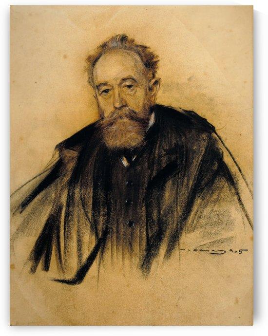 Portrait of Aureliano de Beruete by Ramon Casas i Carbo
