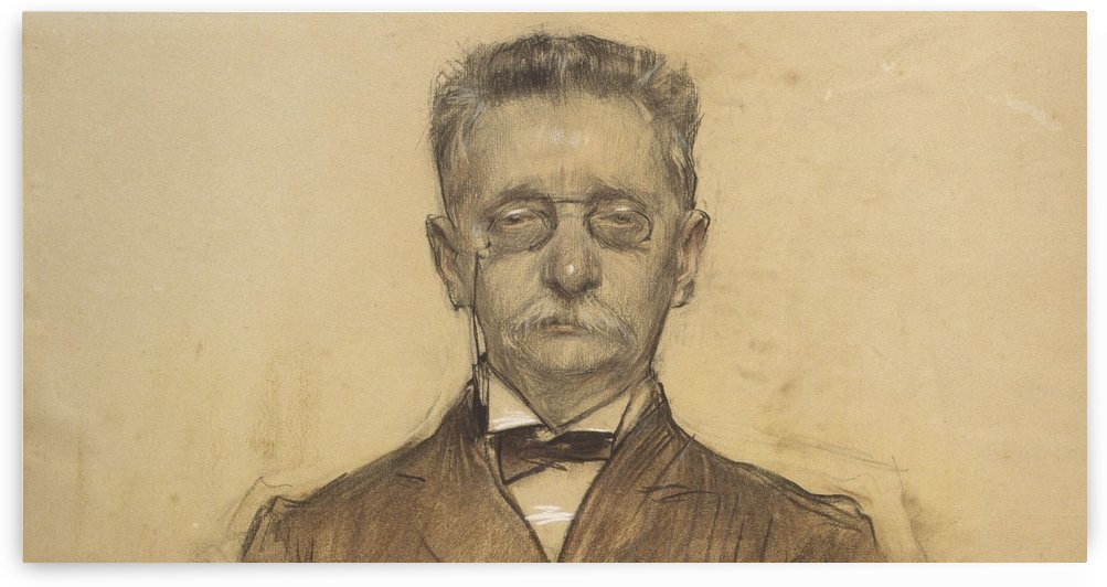 Portrait of Lluis Domenech i Montaner by Ramon Casas i Carbo