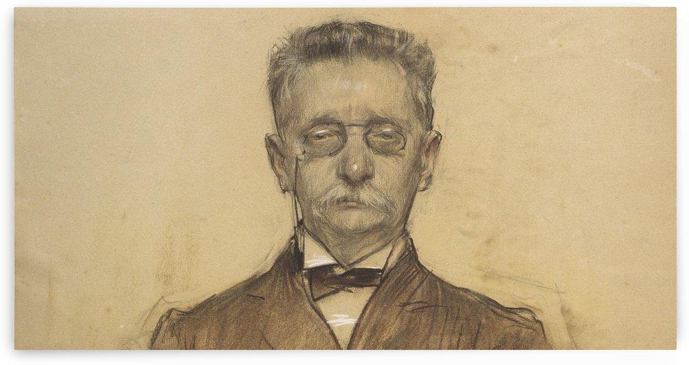 Portrait of Lluis Domenech i Montaner by Ramon Casas i Carbo