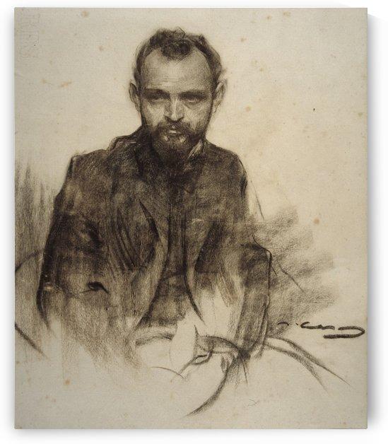 Portrait of Josep Clara by Ramon Casas i Carbo