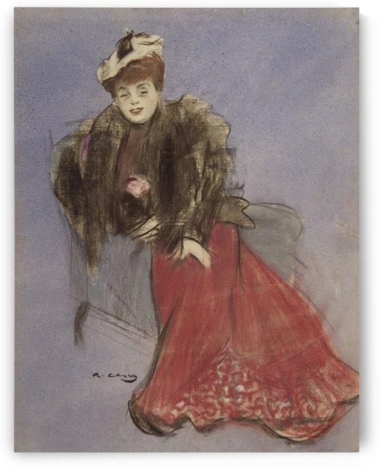 Portrait of Rejane by Ramon Casas i Carbo