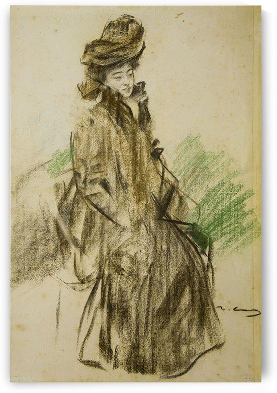 Portrait of Sada Yacco by Ramon Casas i Carbo