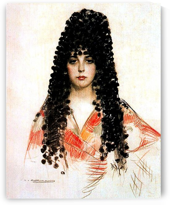 Portrait of a Spanish woman by Ramon Casas i Carbo