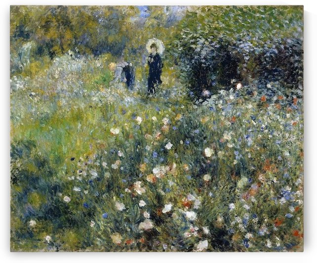 Woman with a Parasol in a Garden by Renoir by Renoir