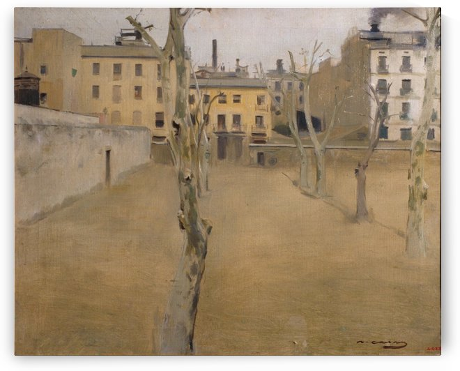 Courtyard of the old Barcelona prison by Ramon Casas i Carbo