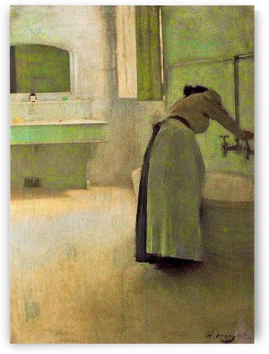 La preparation du bain by Ramon Casas i Carbo