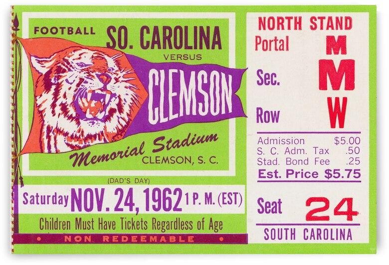1962 Clemson vs. South Carolina by Row One Brand