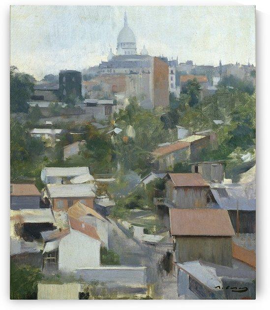 Le Sacre Coeur, Montmartre by Ramon Casas i Carbo