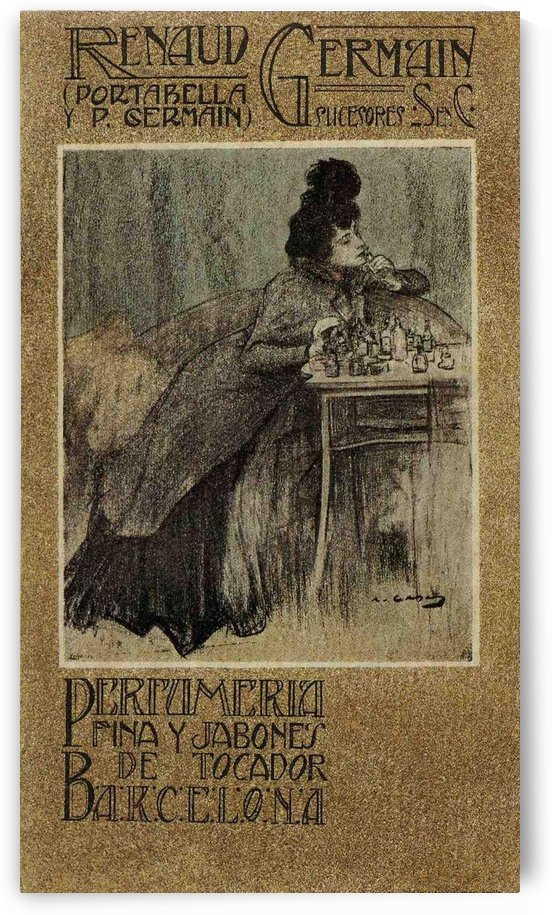 Perfumeria Fina Y Jabones Poster by VINTAGE POSTER