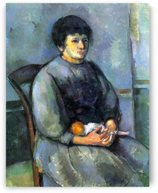 Woman with Doll by Cezanne by Cezanne