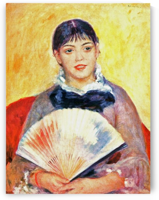 Woman with fan by Renoir by Renoir