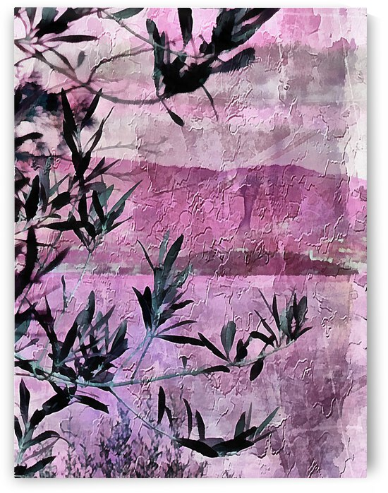 Olive Branch and Lake Abstract by Dorothy Berry-Lound