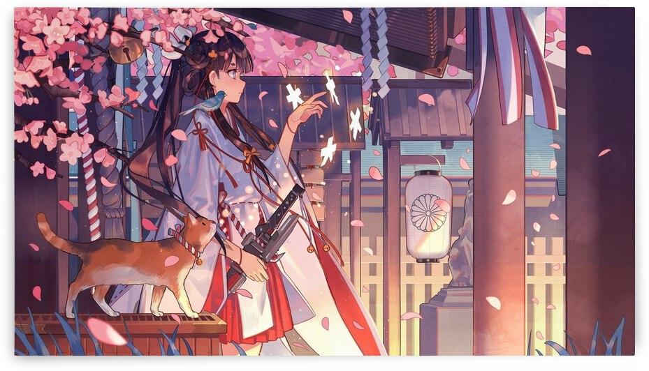Anime girl with kimono by Duc Pham
