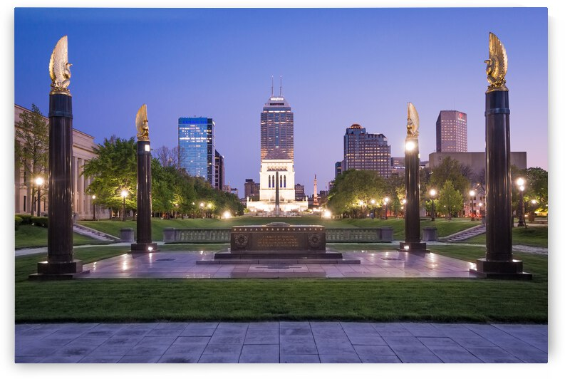 American Legion Mall at Sunset - Indianapolis - Indiana by Gary Whitton