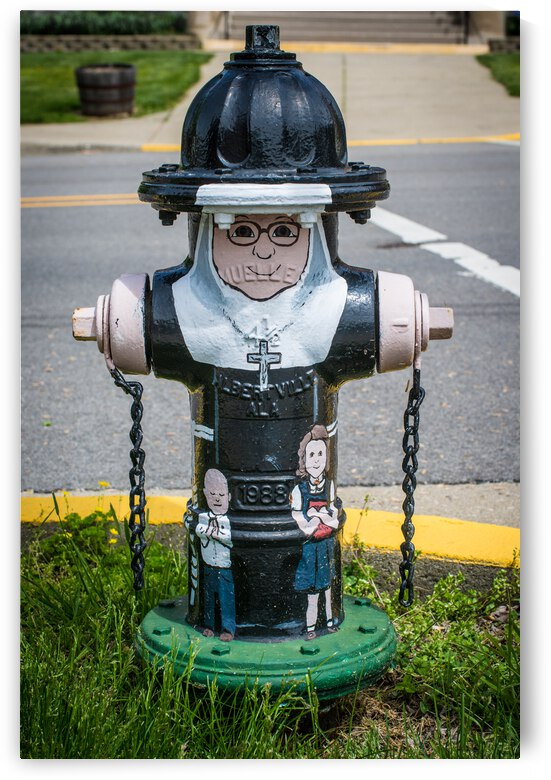 Nun Painted Fire Hydrant - Indiana by Gary Whitton