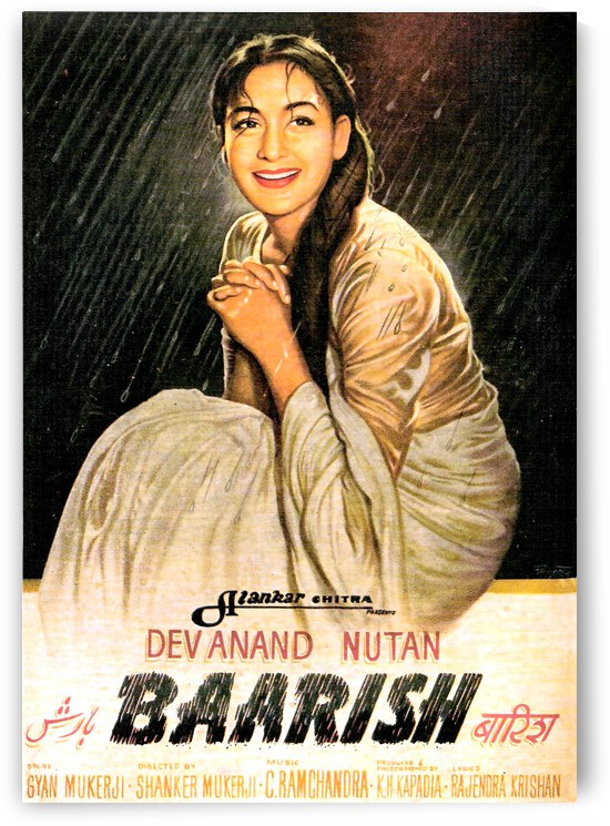 Vintage Bollywood Movie Poster by vintagesupreme