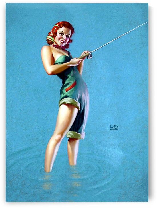 Fishing Girl by vintagesupreme