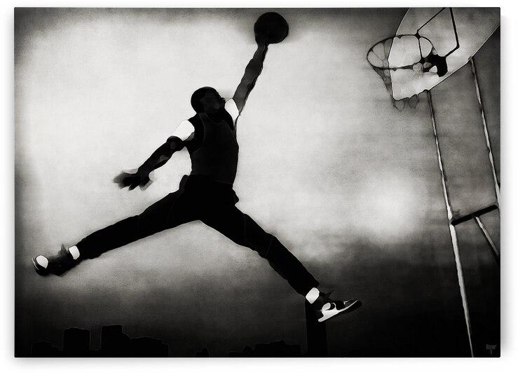 1985 Michael Jordan Nike Poster Card Remix Art by Row One Brand