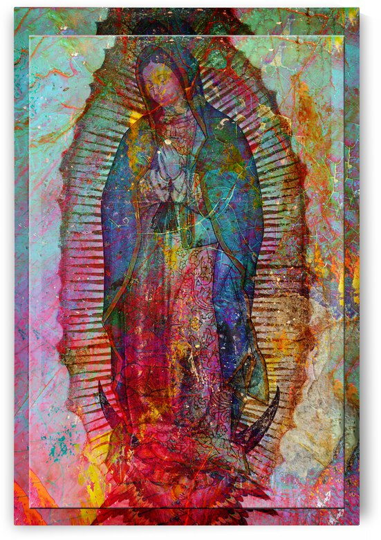 7 Mary In Textures of Metal And Rock copy by Lawrence Costales