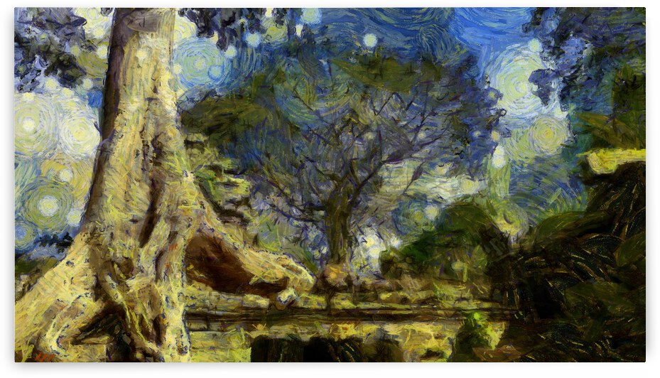 CAMBODIA Angkor Wat oil painting in Vincent van Gogh style. 38 by ArtEastWest