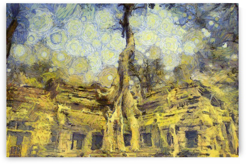 CAMBODIA Angkor Wat oil painting in Vincent van Gogh style. 37. by ArtEastWest
