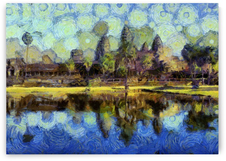 CAMBODIA Angkor Wat oil painting in Vincent van Gogh style. 87 by ArtEastWest