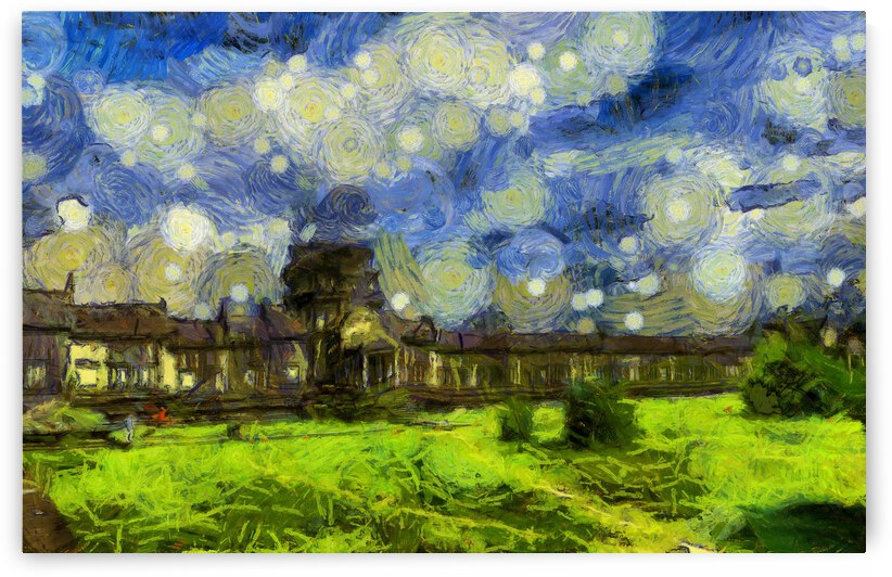 CAMBODIA Angkor Wat oil painting in Vincent van Gogh style. 85 by ArtEastWest