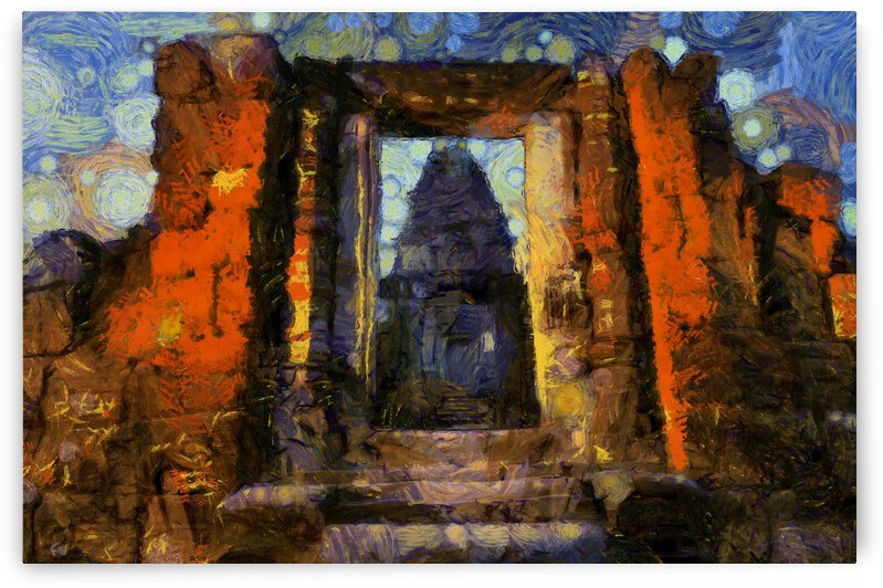 CAMBODIA Angkor Wat oil painting in Vincent van Gogh style. 88 by ArtEastWest