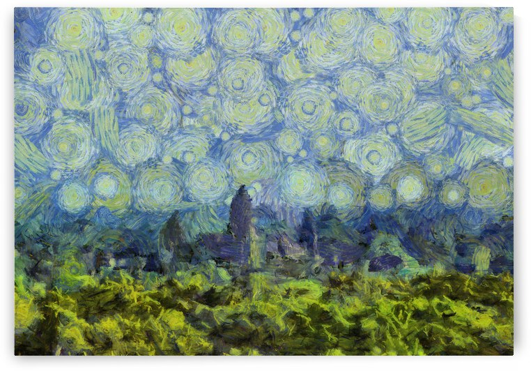 CAMBODIA Angkor Wat oil painting in Vincent van Gogh style. 79 by ArtEastWest