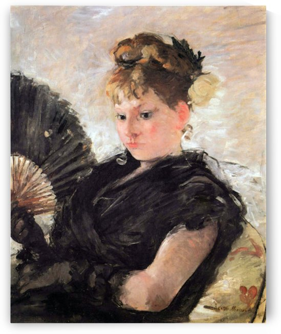 Woman with subjects (head of a girl) by Morisot by Morisot