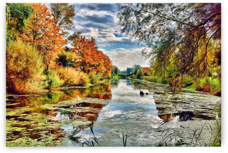 Autumn River by Angel Photo Art
