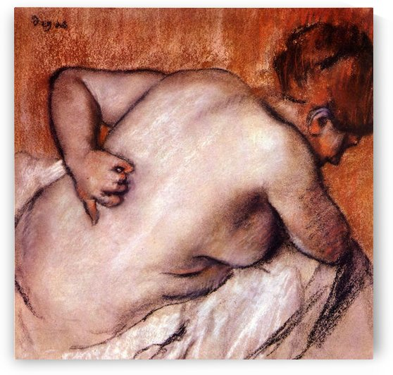 Womans back by Degas by Degas
